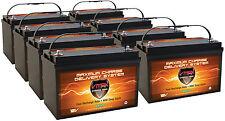 QTY8 SLR125 12V 125Ah SOLAR AGM SLA BATTERIES DEEP CYCLE VRLA HEAVY DUTY AGM