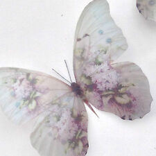 Victorian Butterflies 3 Lilac Wild Rose Blackberry Butterfly 3D Hand Made Gift