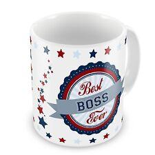 Best Boss Ever Novelty Gift Mug - Blue / Red