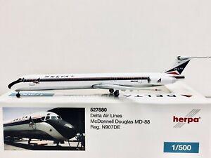 Herpa Wings Delta Air Lines McDonnell Douglas MD-88 1:500 N907DE 527880