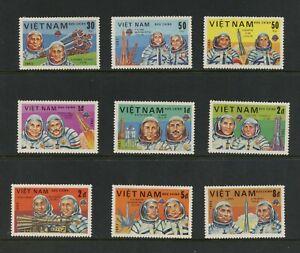 E981 Vietnam 1983 Espace Cosmonauts 9v. MNH