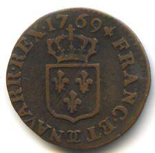 Louis XV (1715-1774) Liard à la vieille tête 1769 Besançon
