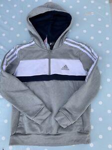 Boys Adidas Half Zip Hoodie Age 9-10