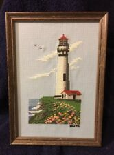 Framed Lighthouse Cross Stitch