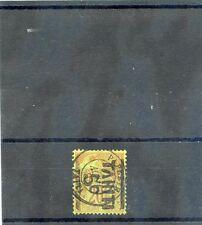 TAHITI Sc 2c(YT 4)VF USED, 1884 5c/20c BRICK/GREEN, READS DOWN, 9AUG87, $500