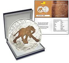 Niue $1 Dollar,1/2 oz. Silver Proof Coin,2011,Prehistoric Art Cave,Elephant,QEII