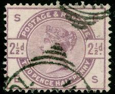 Sg190, 2 1/2 d lilac, good used. cat £ 18. es
