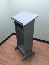 NEW Solid Wood Custom Made Gray Stand Up Lectern Podium/Shtender