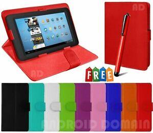 Plain Magnetic Flip Case Cover For Amazon Kindle Fire HD 10'' Inch Tablet + Pen
