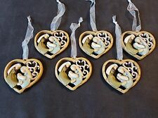 6 new NATIVITY HEART Christmas ORNAMENTS Jesus more ORNAMENTS IN OUR STORE**