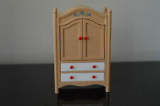 Vintage Tomy Bed room Armoire Dollhouse Furniture Doll House #G