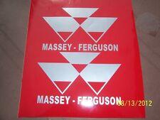 "2- MASSEY-FERGUSON 4"" X 6"" New Vinyl Stickers (SILVER)"