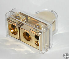 BATTERY TERMINAL Gold 0 2 4 8 GAUGE WITH COVER NEW B00G