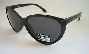 POLAROID SUNGLASSES BLACK GREY POLARISED DRIVING P8217A BNWT GENUINE