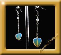 Argento Sterling,925 Orecchini,Orecchini pendenti pietra di luna cuore su una