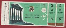 Orig.Ticket      Olympische Spiele ROM 1960    Fussball     JUGOSLAWIEN - TÜRKEI