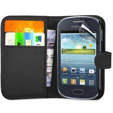 Schwarz Flip Case für Samsung Galaxy Young (gt-s6312 Dual) - Handy Cover