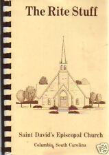 COLUMBIA SC 1985 VINTAGE THE RITE STUFF COOK BOOK * SAINT DAVID EPISCOPAL CHURCH