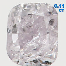Natural Loose Diamond Faint Pink Color Cushion I1 Clarity 2.60 MM 0.11 Ct L4285