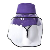 Purple Black Reversible Adventure Hat with Removable Face Shield 100% Polyester
