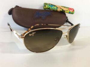 New Maui Jim Baby Beach Polarized Titanium Sunglasses HS245-16 Gold/HCL Bronze