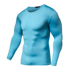 Quick Dry Compression Long Sleeves T Shirt Fitness Cycling Clothing Bodybuild