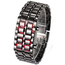Samurai LED Digital Faceless Bracelet Wrist Watch