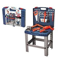 68 Piece Workbench W Realistic Tools ELECTRIC DRILL Kids Pretend Play Toolbox