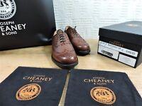 NEUF CHURCH'S CHEANEY Chaussures Richelieu Foncé Acajou noyau DAINITE UK 7.5
