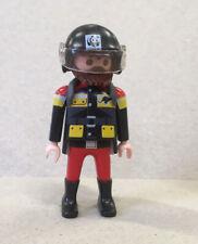 Playmobil Figur, Puppenhaus, Nostalgie, Sammlung, Mann mit WWF Helm, Rucksack