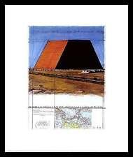 Christo mastaba of Abu Dhabi poster image Art pression dans au cadre en aluminium noir 60x50cm