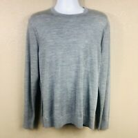 New $128 Michael Kors Mens Extra Fine Merino Long Sleeve Sweater Gray Large NWOT