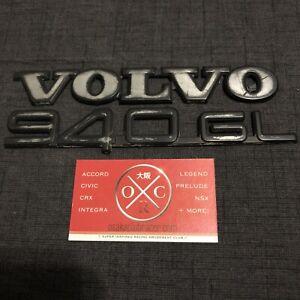 91-98 Volvo 940GL OEM Rear Emblem Genuine Badges USDM 92 93 94 95 96 97 Logo