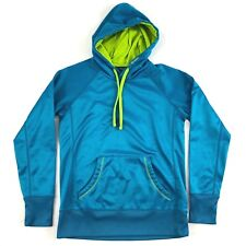 Reebok Hoodie Sweater Sport Casual Blue Green Athletic Size Small