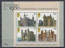 Großbritannien Block 1 Historische Bauten postfrisch