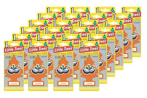 Little Trees Hanging Car and Home Air Freshener, Coconut Scent - Pack of 24