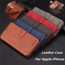 For iPhone 11 Pro Max XS XR 7 8 SE 2 Leather Flip Cover Credit Card Wallet Case