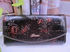NEW - Genuine Leather-Ladies Bronze Brown Wallet with Tags