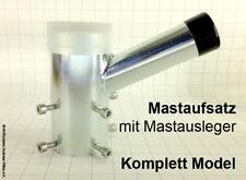Mastaufsatz mit Mastausleger 70 mm - 1-fach