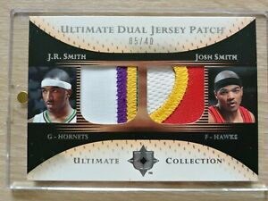 2005-06 Ultimate Dual Jersey Patch Upper Deck J.R. Smith Josh Smith limited 40