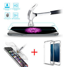 iPhone 6S Plus/ 6 Plus Real Tempered Glass Screen Protector and Clear TPU Case