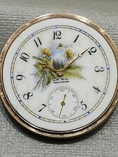 WALTHAM 16S POCKET WATCH w/ FANCY STILL LIFE PORTRAIT DIAL MODEL 1908 GRADE 625