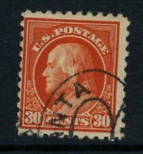 Scott #439 U.S. stamp 1914 perf 10 Franklin 30 cent used