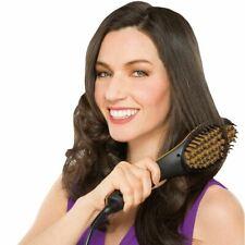 JML Simply Straight Hair Brush Hair Straightening Ceramic Auto Heat Gold