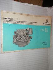 LISTINO PARTI DI RICAMBIO DEUTZ F4L 911 912 Deutz 1970 manuale corso meccanica