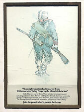 Orig 1976 BICENTENNIAL US ARMY Recruitment POSTER Valley Forge REVOLUTIONARY WAR