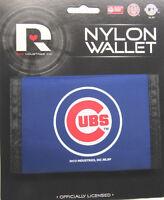 MLB NWT PRINTED TRI-FOLD NYLON WALLET - CHICAGO CUBS