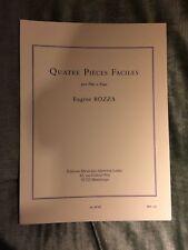 Bozza quatre pièces faciles pour flûte et piano partition éditions Leduc
