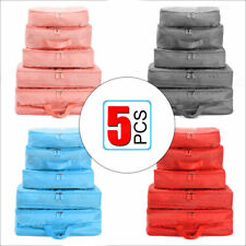 5x Underwear Clothes Storage Bags Packing Cube Travel Luggage Organizer Socks UK