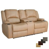 "RecPro Charles 70"" Powered Double RV Wall Hugger Recliner Sofa Loveseat"